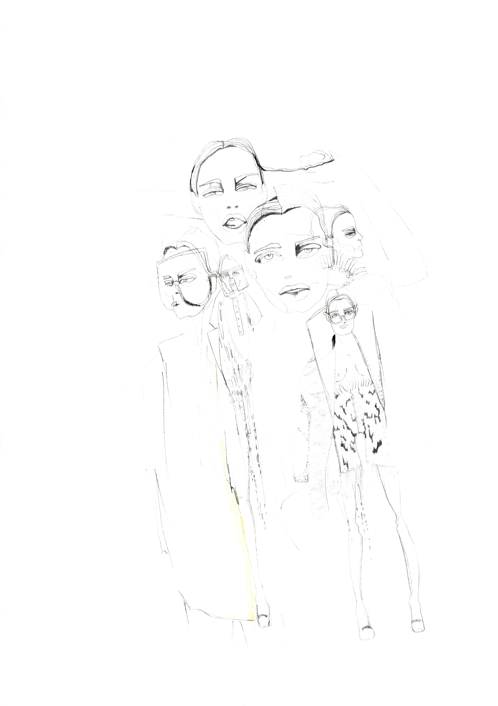 fine line pen on paper illustration